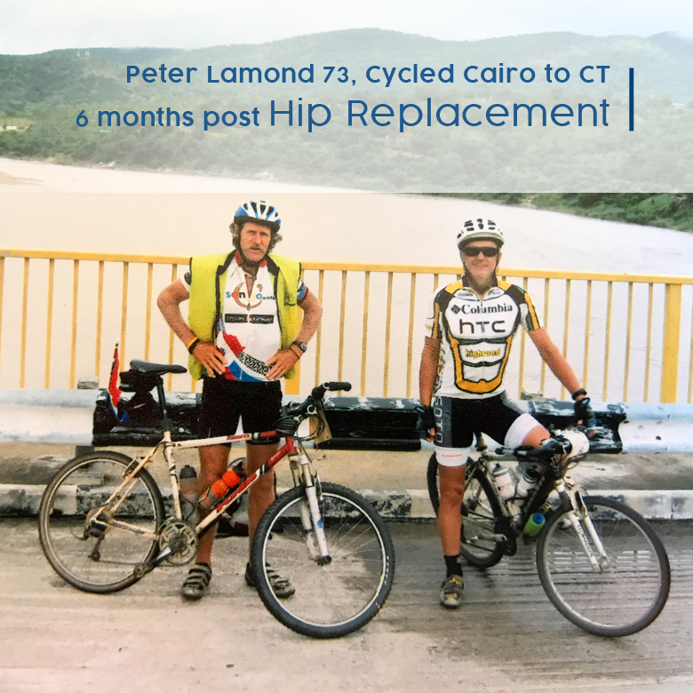 hip replacement testimony, real cycling
