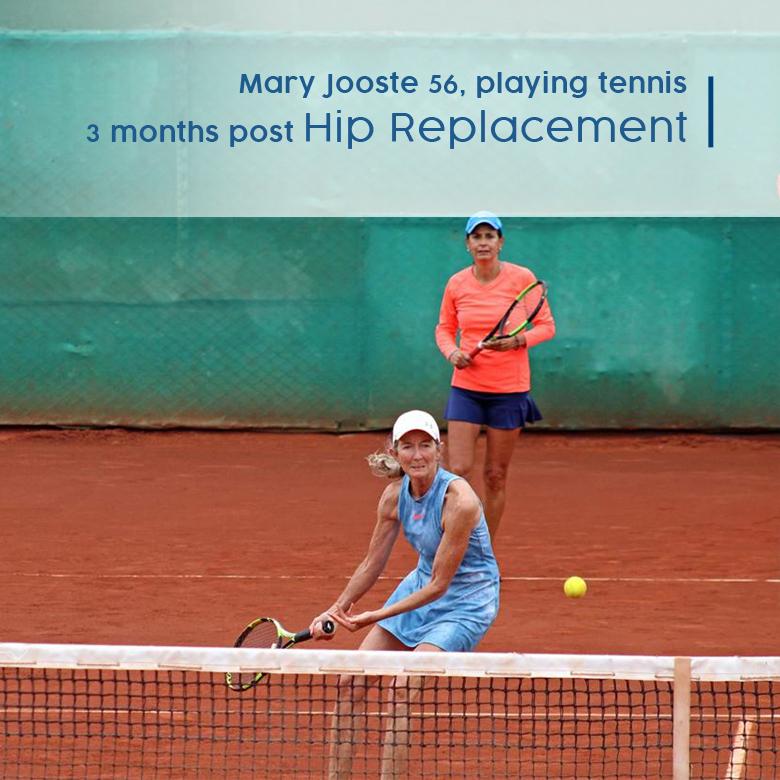 hip replacement testimony tennis